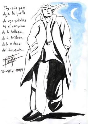 Un dibujo para un poeta