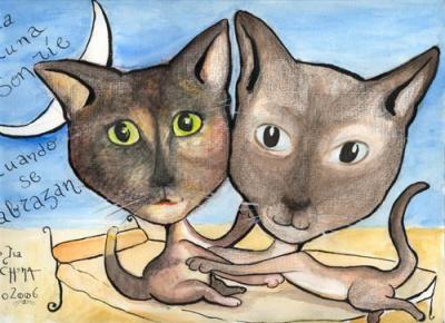 Gata y gato