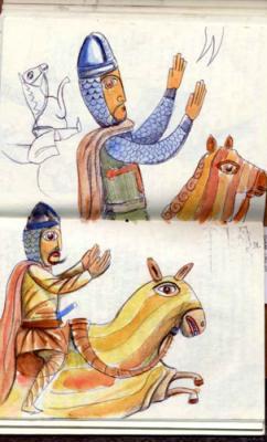 Bocetos del cuaderno