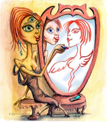 Ilustración para un relato de Luisa Miñana en El Cronista
