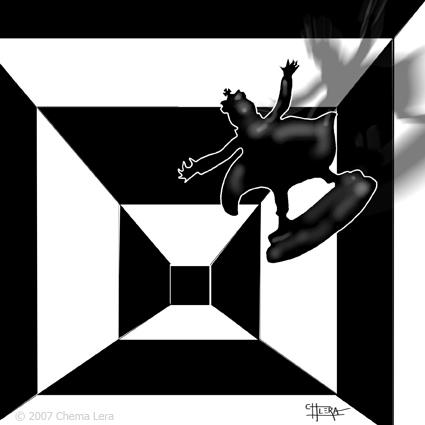 Ilustración para un relato de Roberto Malo